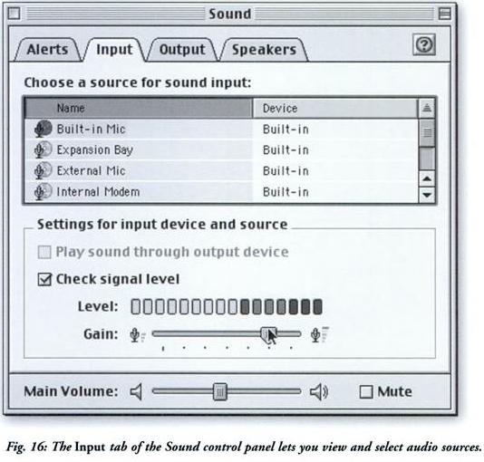 OS 9 audio options