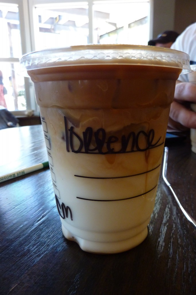 The way 'Laurence' is spelled at Starbucks.
